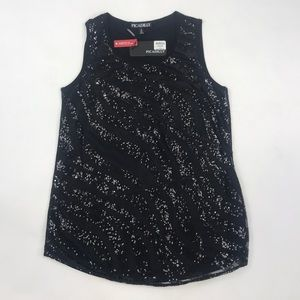 Picadilly Black Sequence Tank